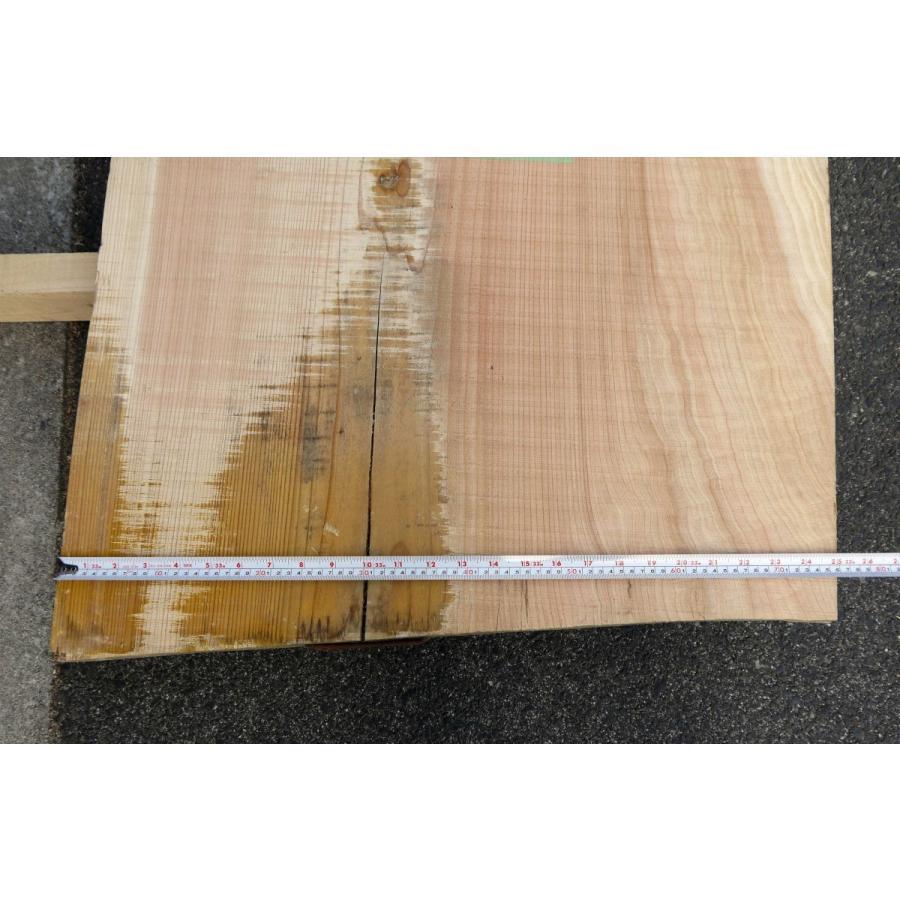 【杉板】【1点もの】杉材 無垢板 節有り 長さ2200mm 厚み44mm 幅590mm 1枚 荒削り 耳付き 両端割れあり|kobikiya|07