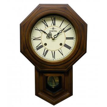 ボンボン振り子時計(ローマ文字) QL688R 八角渦ボン時計 送料無料 同梱不可