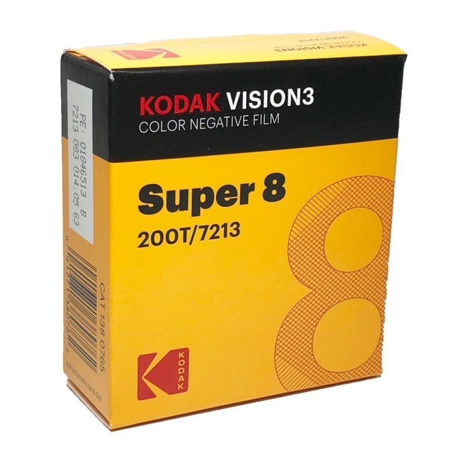 スーパー8 / コダック VISION3 200T カラーネガティブ フィルム 7213 / 50フィート カートリッジ|kodak
