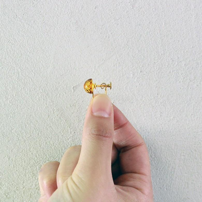 「アンバー(琥珀) イヤリング」 妊活 妊娠 流産防止 子宝  不妊 安産 出産 金運 仕事運 パワーストーン 天然石|kodakara|04