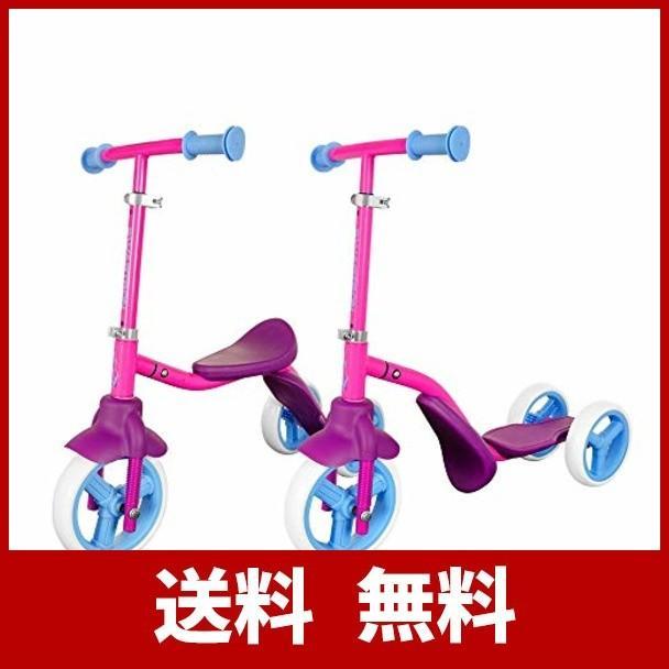 SWAGTRON おもちゃ 三輪車 キックボード 2wayスクーター ペダルなし自転車 子供用 1歳以上 乗用玩具 安定 (ピンク)