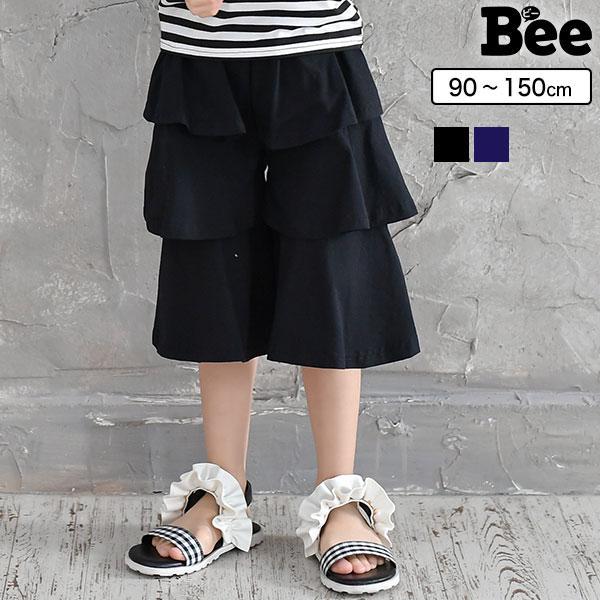 3段ティアードガウチョ 韓国子供服 韓国こども服 韓国こどもふく Bee キッズ 女の子 春 夏 サマー ボトムス|kodomofuku-bee