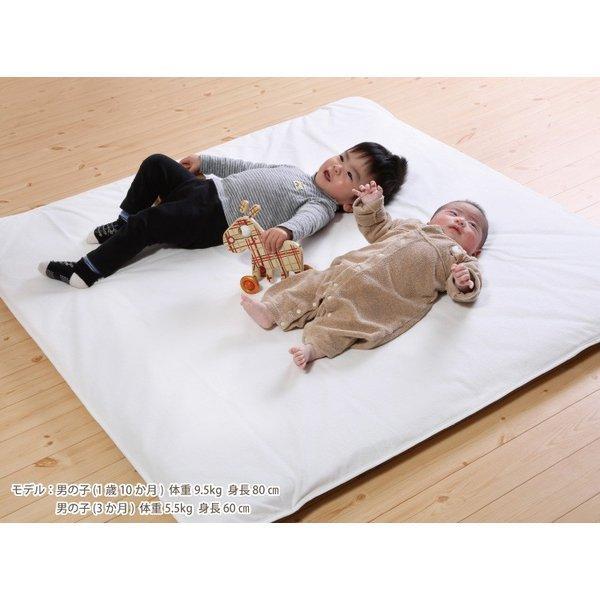 おねしょシーツ 子供 寝返りマットレス専用 120×120cm 洗える防水シーツ ゴム付 kodomonofuton 05