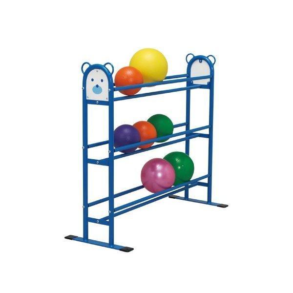 くまちゃんボール棚 保育園 屋外 屋内 運動 遊具 体づくり 収納 組立式 可愛い 青