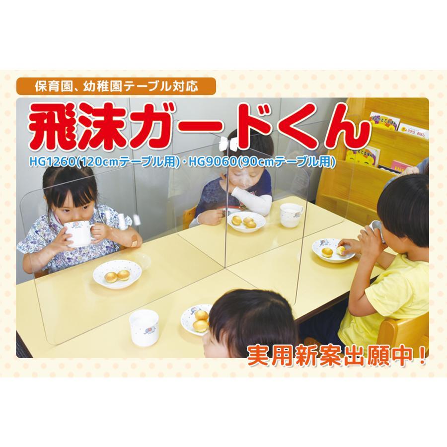 飛沫ガードくん 2枚組 本日限定 120cmテーブル用 机 保育園 幼稚園 ウイルス飛沫対策 送料無料カード決済可能 パーテーション こども園