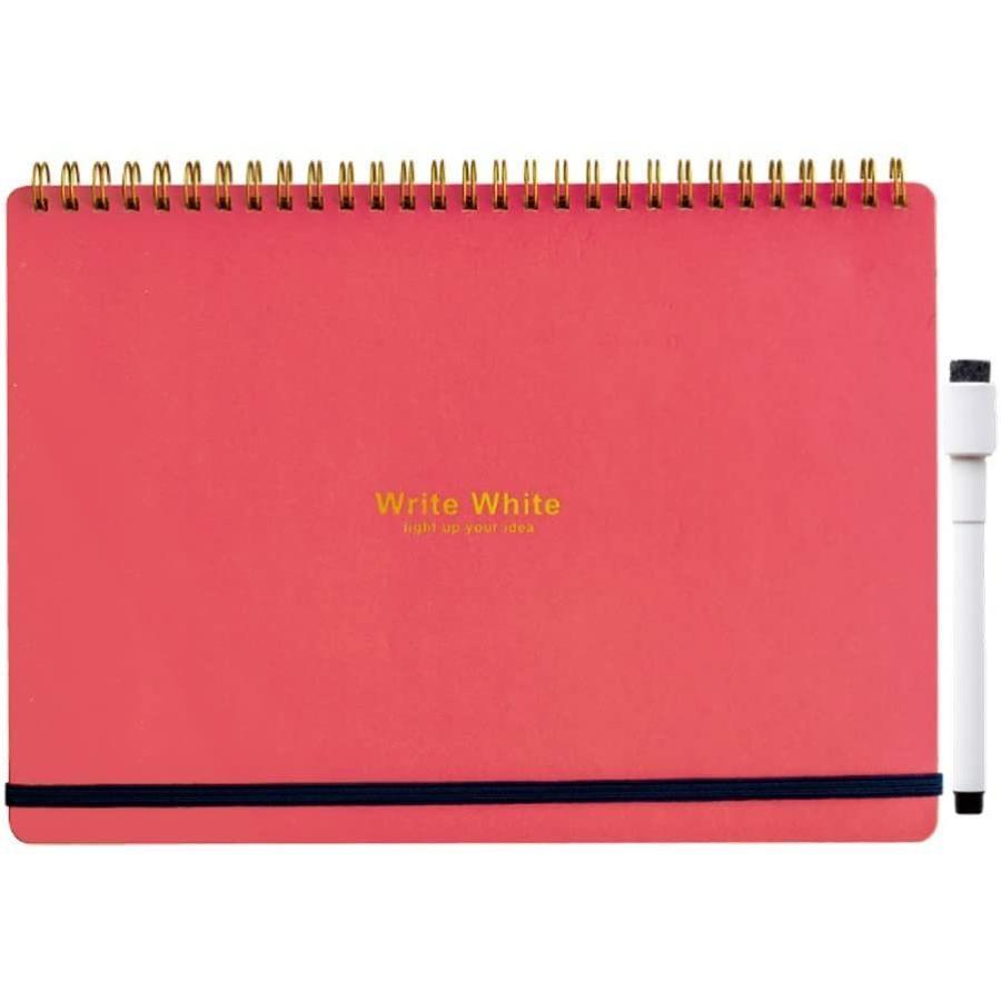 新作からSALEアイテム等お得な商品満載 学研ステイフル ホワイトボード ノート Write White ギフ_包装 B5 BD12011 レッド 送料無料