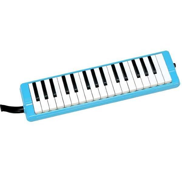 鍵盤ハーモニカ 今ならかいめいシールプレゼント 全音 ゼンオン ピアニーブルー 323AH 卓奏歌口 待望 立奏歌口 ハードケースのセット 期間限定送料無料 ブルー 本体