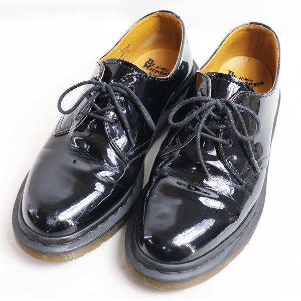 Dr.Martens×BEAMS ドクターマーチン ビームス3ホール パテントレザー メンズシューズ 男性靴 ブラック UK7 約26.0cm/中古/質屋出店 koera