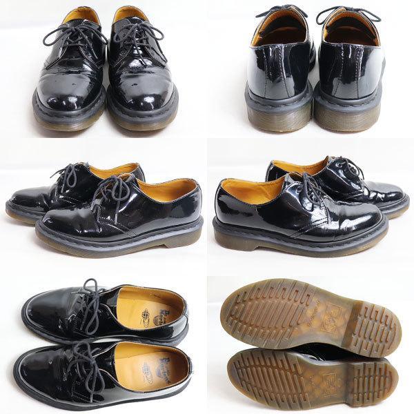 Dr.Martens×BEAMS ドクターマーチン ビームス3ホール パテントレザー メンズシューズ 男性靴 ブラック UK7 約26.0cm/中古/質屋出店 koera 02