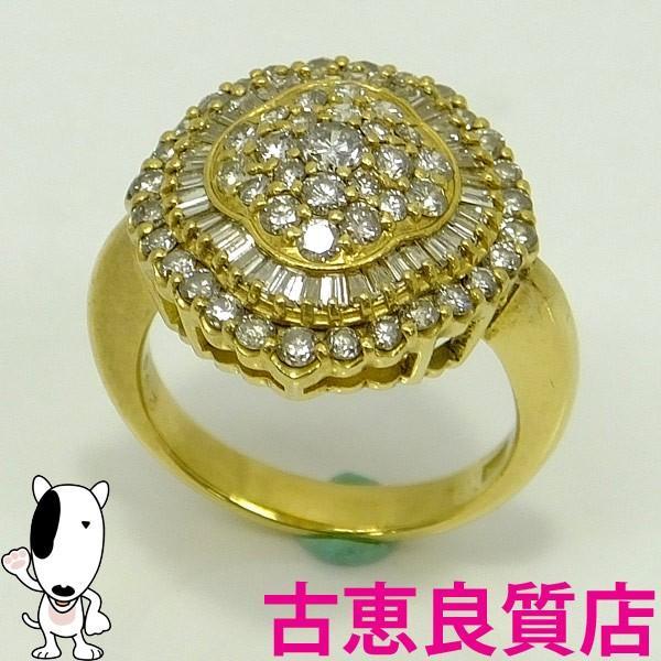 衝撃特価 K18 ダイヤモンドファッションリング 指輪 ダイヤモンド 2.00ct 8.3g サイズ14号  (hon), スサミチョウ a9314e68
