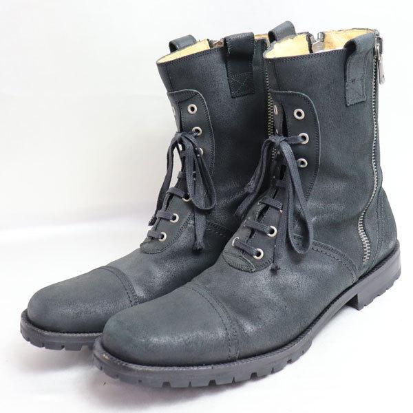 DOLCE & GABBANA ドルチェ&ガッバーナ ドルガバ 9752 1509 メンズブーツ コマンドブーツ ブラック サイズ9 1/2 日本サイズ約27.5cm /中古/質屋出店|koera