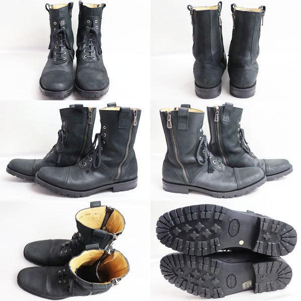 DOLCE & GABBANA ドルチェ&ガッバーナ ドルガバ 9752 1509 メンズブーツ コマンドブーツ ブラック サイズ9 1/2 日本サイズ約27.5cm /中古/質屋出店|koera|02