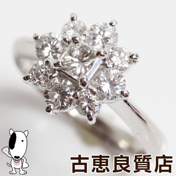 【楽天スーパーセール】 Pt 指輪 プラチナ ダイヤ1.00ct 4.4gリング サイズ9.5号 フラワーモチーフ /MR1299, STRIKE 897a6360
