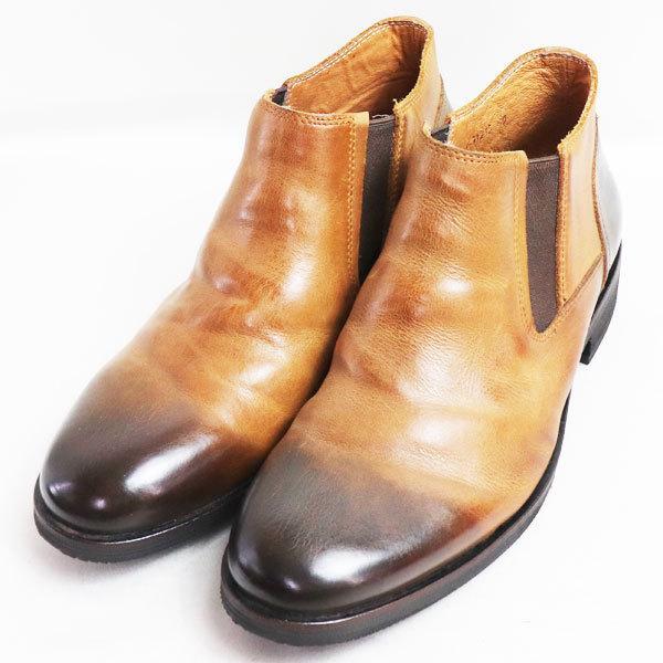 ラウディ RAUDi サイドゴアブーツ男性靴 R-91213 40 ブラウン 約25.5cm/中古/極美品/質屋出店 koera