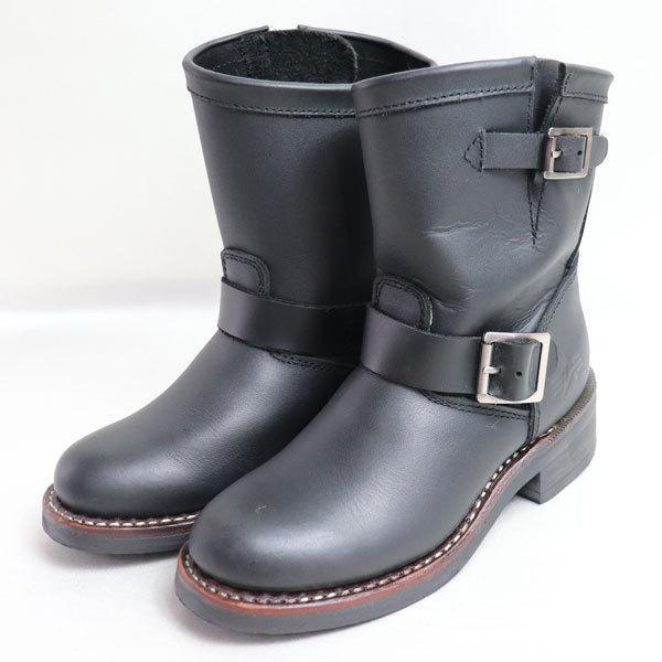 ALPHA INDUSTRIES アルファインダストリーズ レディースショートエンジニアブーツ女性靴 ALS-72014 ブラック 約22.0cm バイク用ブーツ/中古/質屋出店|koera