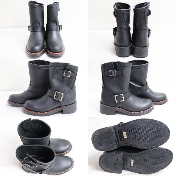 ALPHA INDUSTRIES アルファインダストリーズ レディースショートエンジニアブーツ女性靴 ALS-72014 ブラック 約22.0cm バイク用ブーツ/中古/質屋出店|koera|02