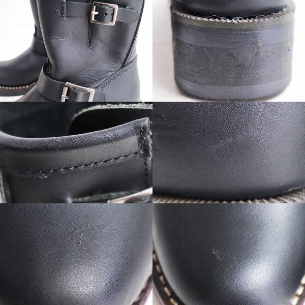 ALPHA INDUSTRIES アルファインダストリーズ レディースショートエンジニアブーツ女性靴 ALS-72014 ブラック 約22.0cm バイク用ブーツ/中古/質屋出店|koera|04