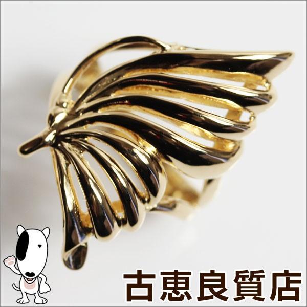 (訳ありセール 格安) K18 指輪 ファッションリング 5g リング サイズ12.5号 YG バタフライモチーフ//質屋出店/あすつく/MR1072, タテヤマシ 78de423f