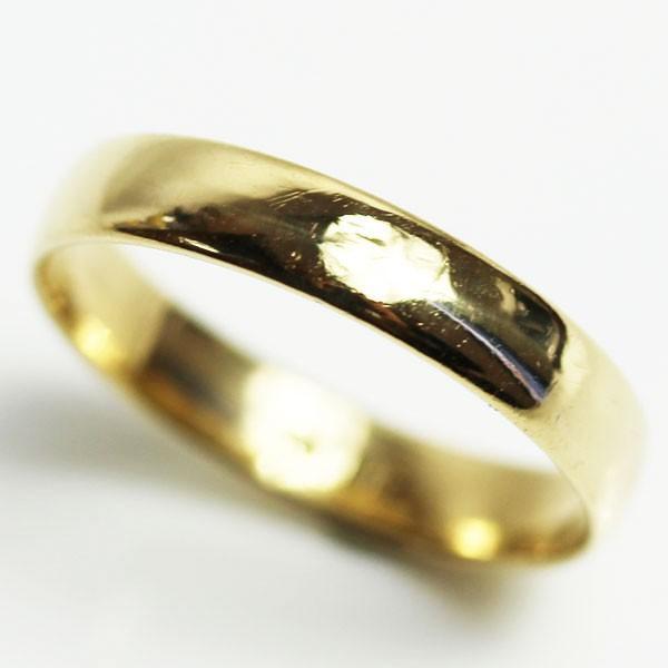 買得 K18 指輪 甲丸リング ユニセックス 2.7g リング サイズ14.5号 MR1589, 総合福祉アビリティーズ caab7507
