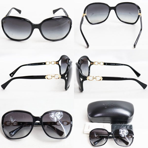 COACH コーチ サングラス HC8145 L948 500211 Black ブラックフレーム 眼鏡 めがね メガネフレーム 60□16-130/質屋出店/中古|koera|02