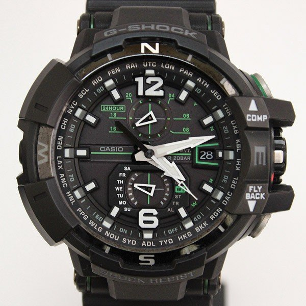 人気の春夏 CASIO カシオ G-SHOCK GW-A1100-1A3JF 電波時計 世界6局対応電波ソーラー トリプルGレジスト メンズ 腕時計 スカイコックピット MT1612, HOBBY-JOY 3fe5366e