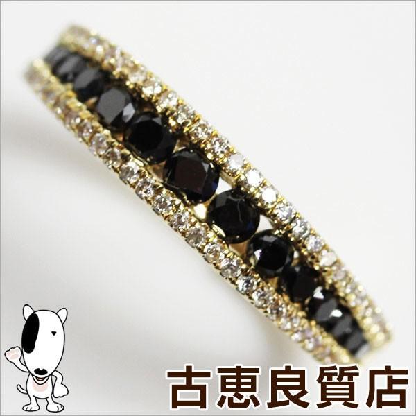 【別倉庫からの配送】 K18YG イエローゴールド リング 指輪 ブラックダイヤ.0.5ct 2.3g サイズ10号//あすつく/MR1169, 製造直販ゴルフ屋 04f716f8