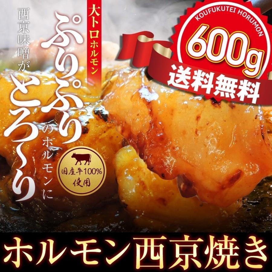 ホルモン 国産牛 焼肉 ホルモン焼き お取り寄せグルメ ギフト うちホル BBQ  肉 牛肉 牛ホルモン  国産大トロ ホルモン 600g  味噌味 kofukutei