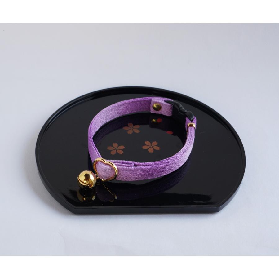 猫用 日本最大級の品揃え 首輪 ハンドメイド セーフティバックル使用 グラデーション 3サイズから選べる 江戸猫首輪 業界No.1 紫