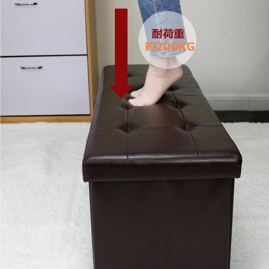 座れるスツール 収納スツール 収納付 ボックススツール 椅子 収納ベンチ 収納ボックス ベンチ オットマン 収納 おもちゃ ローソファー 収納ケース|kogyostore|11