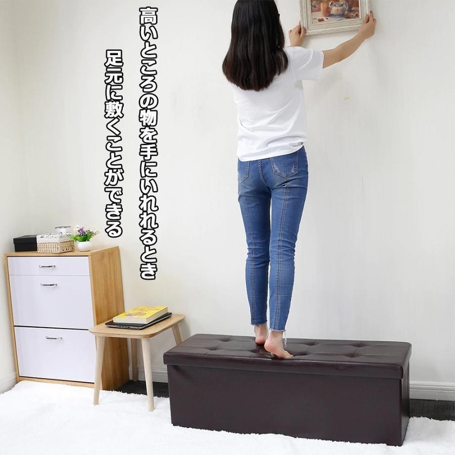 座れるスツール 収納スツール 収納付 ボックススツール 椅子 収納ベンチ 収納ボックス ベンチ オットマン 収納 おもちゃ ローソファー 収納ケース|kogyostore|13