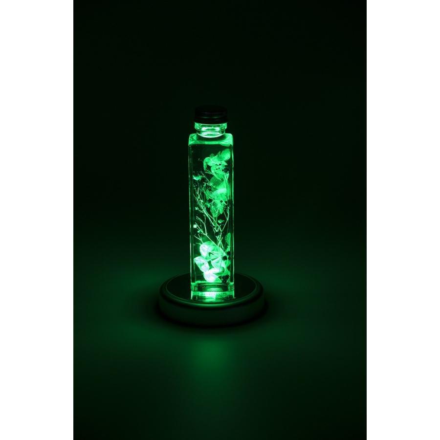 コースターライト LED レインボー ハーバリウム イルミネーション 台座 LED-SL-SQ8 スクエア シルバー|koh5533|04