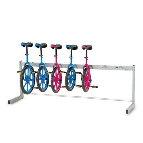 エバニュー EVERNEW 一輪車 ラック 体育用品 学校 一輪車ラック片面式 7台掛 EKD118