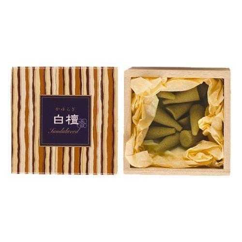お香 コーン 日本香堂 特価キャンペーン 日本製 白檀の香り お歳暮 白檀 かゆらぎ インセンス コーン型12個入