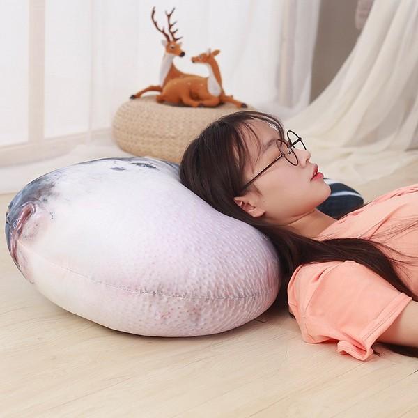 だきまくら アザラシ ぬいぐるみ  アシカ 海洋生物 抱き枕 クッション ふわふわ もちもち 80cm