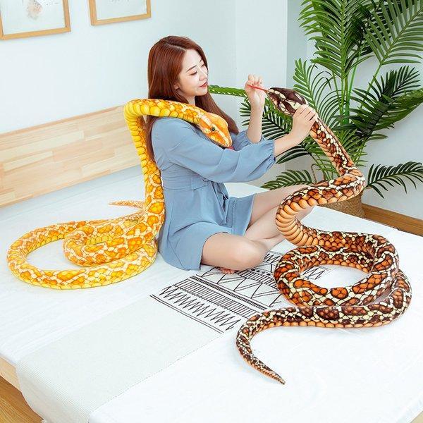 ヘビ ぬいぐるみ 大きな へび 売買 リアル 蛇 景品 プレゼント約3m 誕生日 新登場 動物 子供 演技道具 ギフト