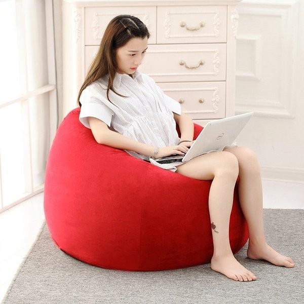 ビーズクッション 人をダメにするソファ お手頃 おしゃれ ソファー ゆったり 伸縮 フィット Lサイズ