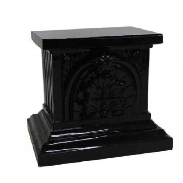 ギリシャ神殿 大理石調ロコココラム ブラック 置台H71