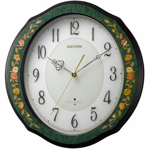 [文字入れ・名入れOK] 際立つ高級感あるハイグレード・クロック 芸術的な象嵌細工仕上げ RHYTHM/リズム 電波時計/掛け時計 【RHG-M89】[送料無料]