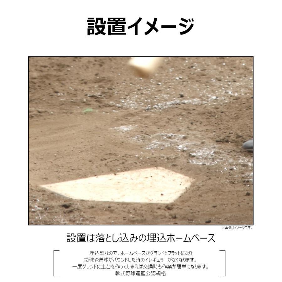 野球ホームベース コクサイ KOKUSAI 木台付ホームベース80 埋め込み 少年用 RB748 1台 送料無料|kokusai-shop|03