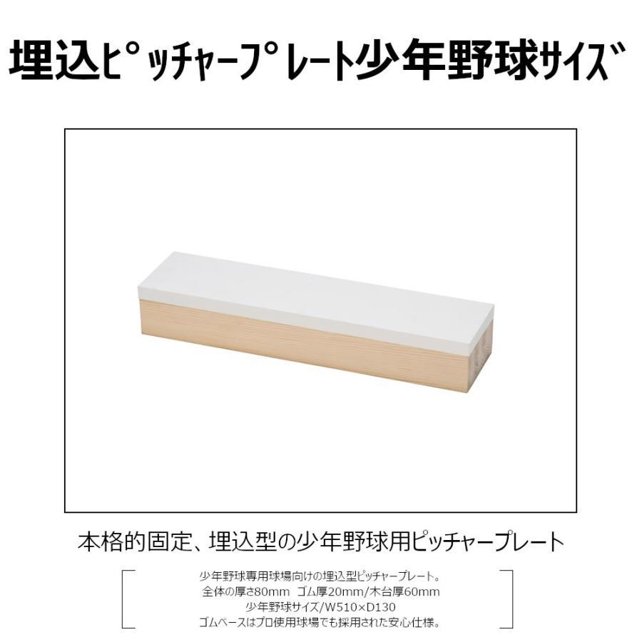 野球ベース ピッチャープレート コクサイ KOKUSAI 木台付ピッチャープレート80 埋め込み 少年用 RB848 1台 送料無料|kokusai-shop|02