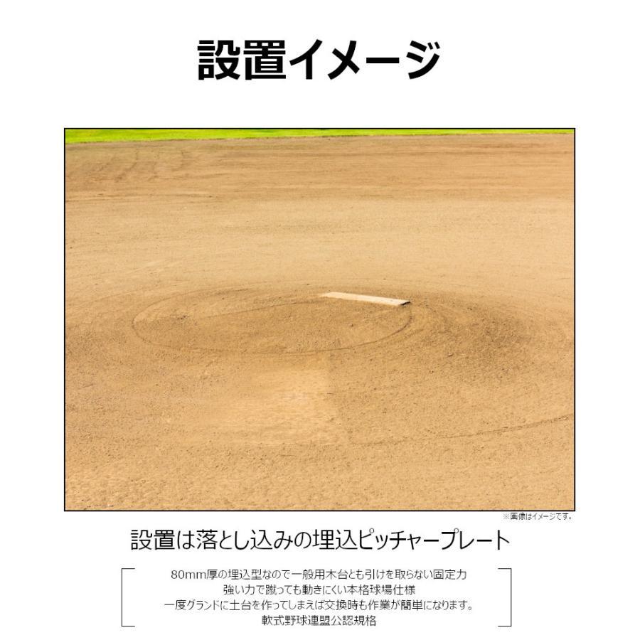 野球ベース ピッチャープレート コクサイ KOKUSAI 木台付ピッチャープレート80 埋め込み 少年用 RB848 1台 送料無料|kokusai-shop|03