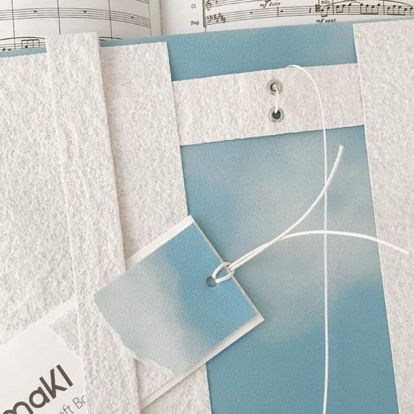 文庫〜A5判 サイズ豊富 :) 青空ブックカバー BOOK COVER BLUE SKY 文庫本/新書判/四六判/B6判/A5判/手帳/オーダーサイズ ハンドメイド|komaki|02