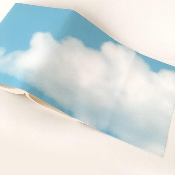 文庫〜A5判 サイズ豊富 :) 青空ブックカバー BOOK COVER BLUE SKY 文庫本/新書判/四六判/B6判/A5判/手帳/オーダーサイズ ハンドメイド|komaki|05