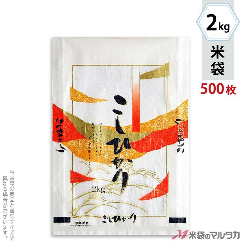 米袋 雲龍和紙 フレブレス こしひかり 錦 2kg用 1ケース(500枚入) MK-0840
