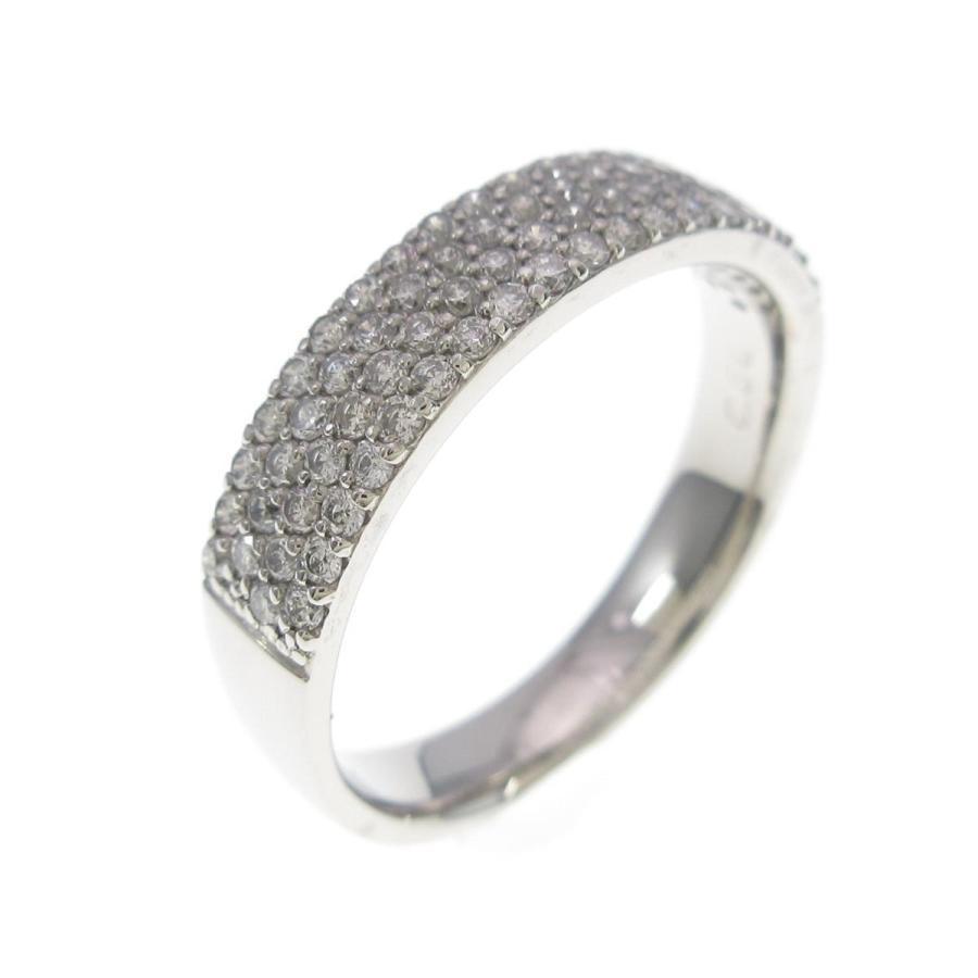 上等な PT パヴェ ダイヤモンドリング, オオモリマチ fb63f9ab