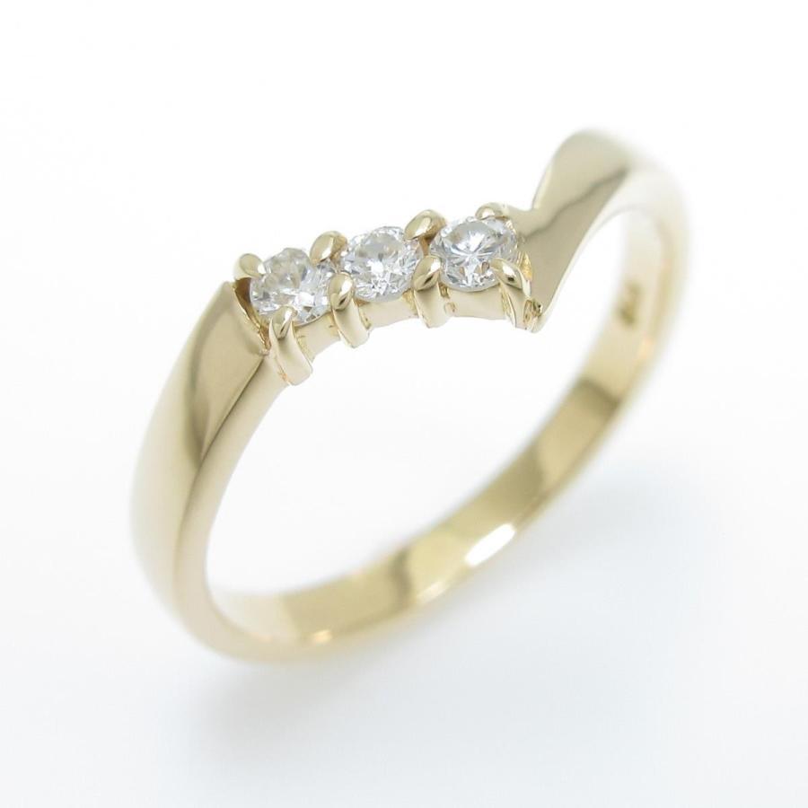 【名入れ無料】 K18YG ダイヤモンドリング, カサギチョウ e0c7f061
