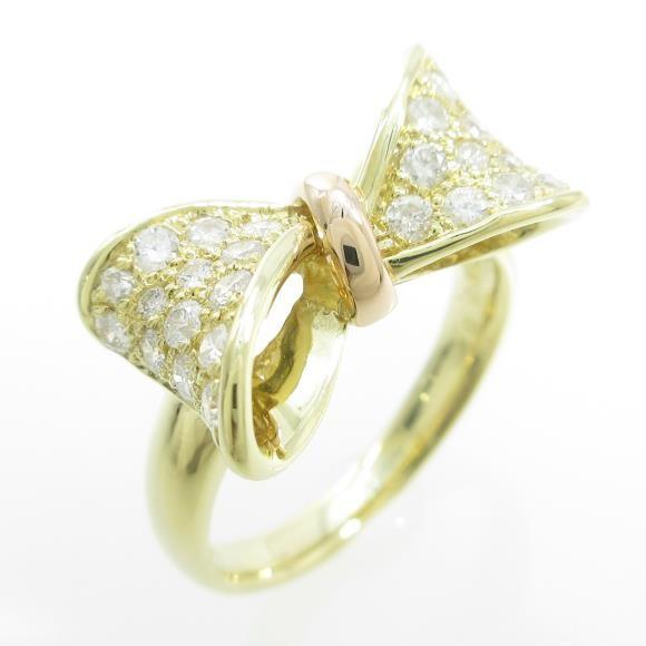 品質満点! K18YG/K18PG リボン ダイヤモンドリング, エスクリエイト:60bad5dd --- airmodconsu.dominiotemporario.com