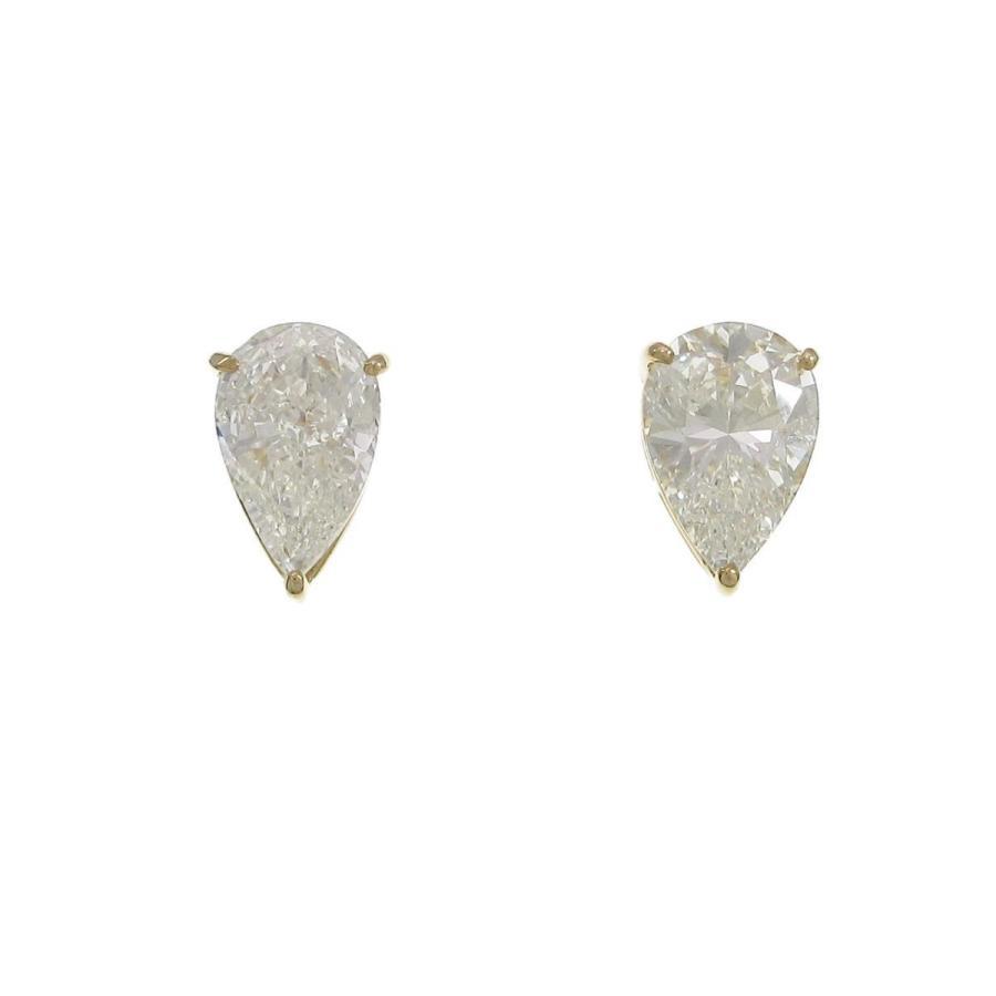 人気新品入荷 K18YG ダイヤモンドピアス 2.008ct・2.020ct・G・SI2・ペアシェイプ, カジカワムラ c373e11b