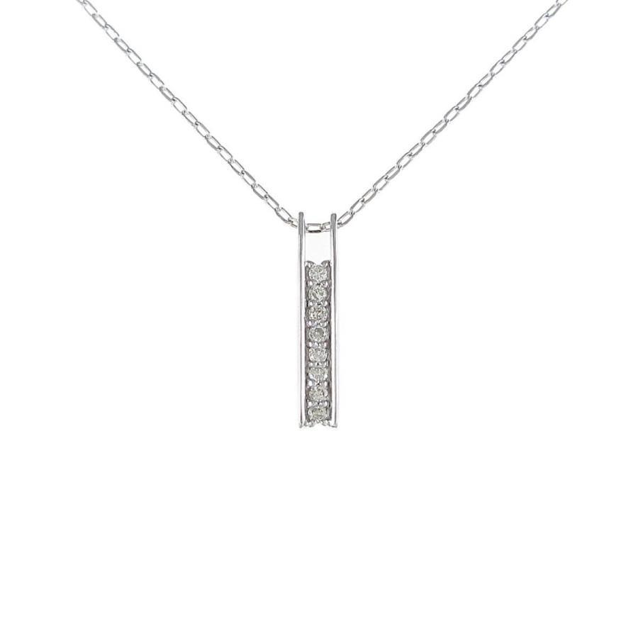 【好評にて期間延長】 K18WG ダイヤモンドネックレス, アルク(ALUK) 8b0ffc4c