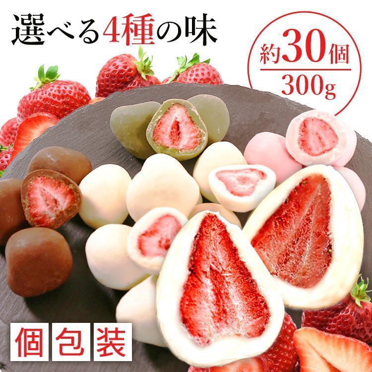 チョコレート いちご いちごチョコ フリーズドライ イチゴ バレンタイン まるごといちごチョコ ホワイトチョコがけ 300g  6001 クール便対応 (D) セール|komenokura